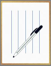 便箋とペンのイラスト