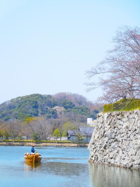 姫路城の和船の写真