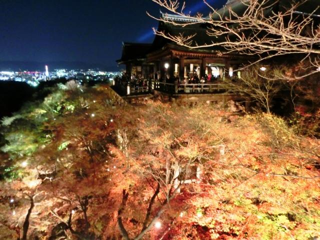 夜の清水寺の写真