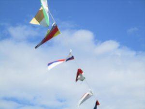 万国旗の写真