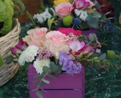 たくさんの花が植えてあるプラントの写真