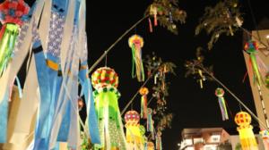 夜の七夕祭り