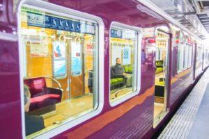 電車の窓の写真