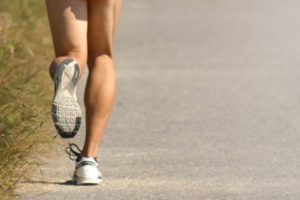 走っている時の足の写真