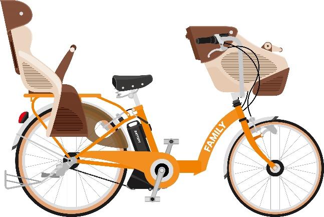 電動自転車のイラスト