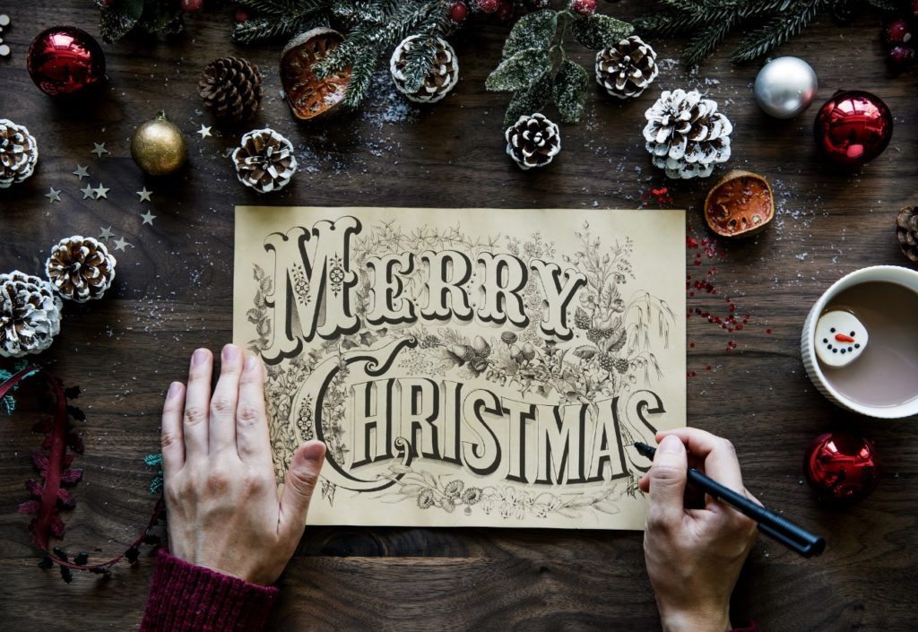MerryChristmasと書いている写真