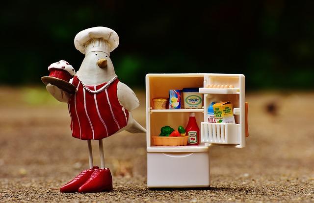 冷蔵庫のミニチュア