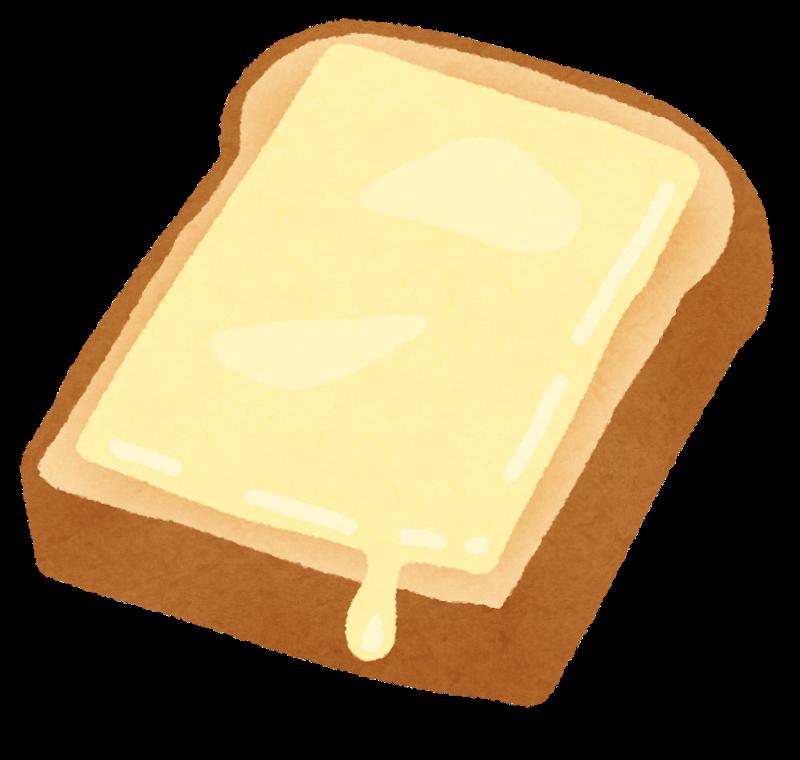 チーズが乗ったトーストのイラスト