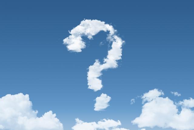 雲で書かれた?