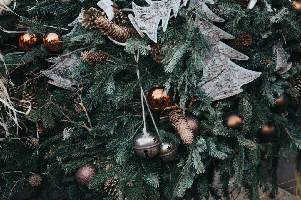 アップのクリスマスツリー