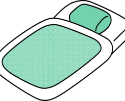 布団のイラスト