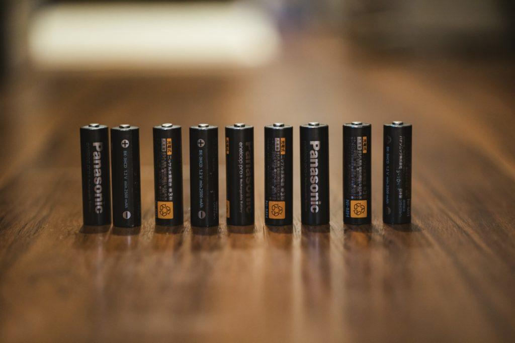乾電池の写真