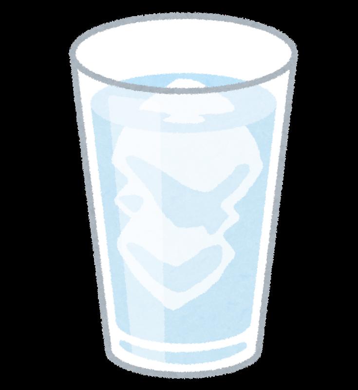 氷の入ったグラスのイラスト