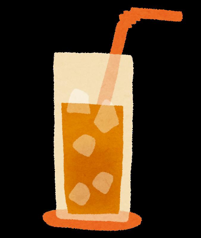 グラスに入った飲み物のイラスト