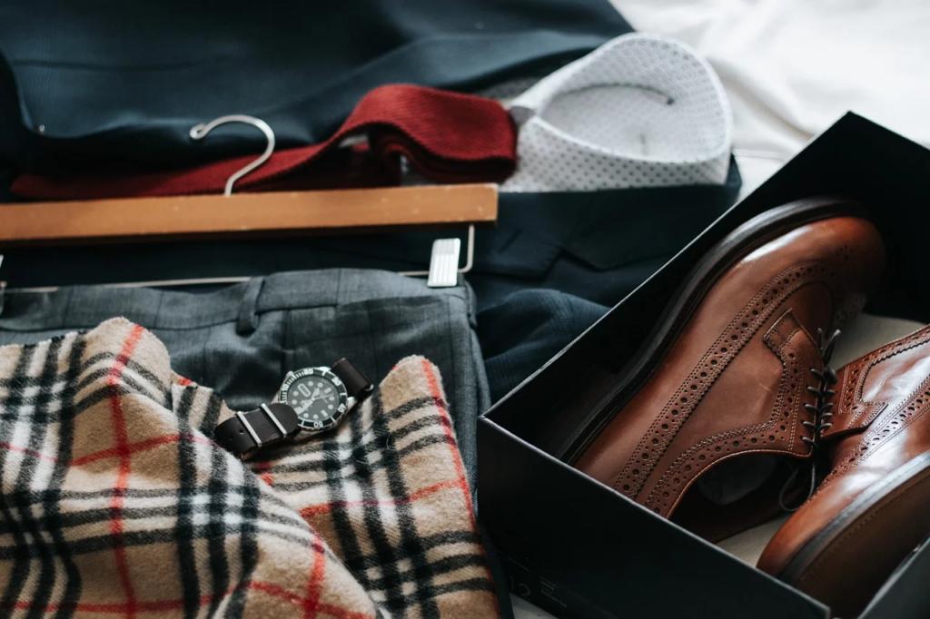 靴や腕時計