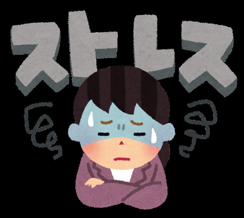 ストレスのイラスト