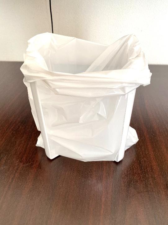袋をかけたポリ袋エコホルダー