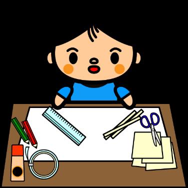 工作する子供のイラスト
