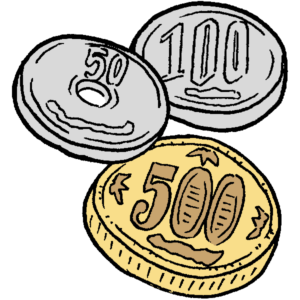 小銭のイラスト
