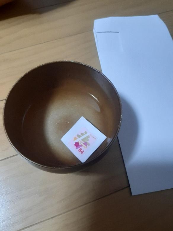お椀と封筒