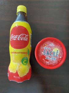 コカ・コーラレモンおサクレのコーラ味アイス